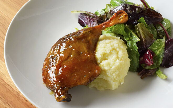 Slow-Roasted Duck Legs with Orange Sweet & Sour Sauce Recipe | D'Artagnan