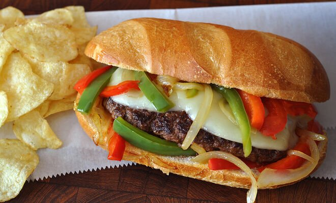 Philly Cheesesteak Style Burger Recipe | D'Artagnan