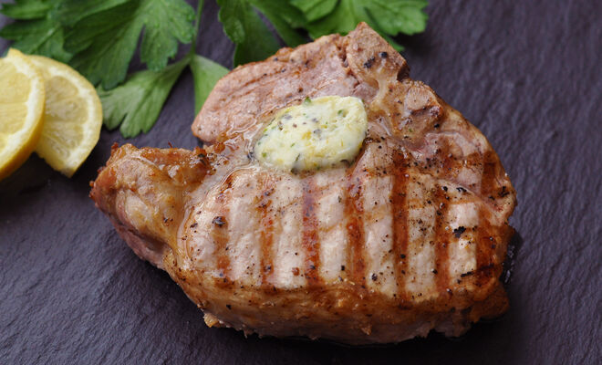 Grilled Pork Chops with Citrus Butter Recipe | D'Artagnan