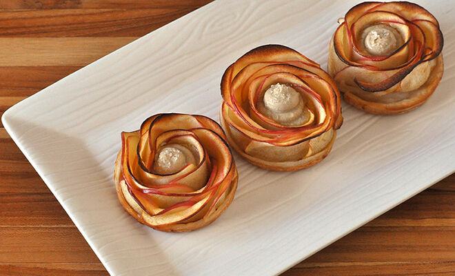 Apple Roses Tarts with Foie Gras Recipe | D'Artagnan