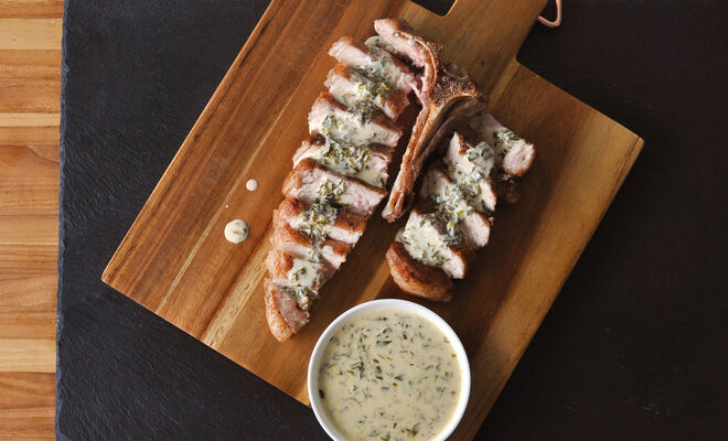 Veal Chops with Easy Herb Sauce Recipe | D'Artagnan