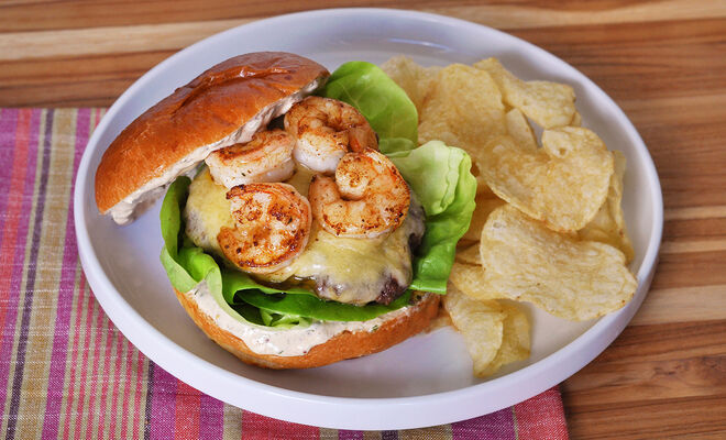 Wagyu Burgers with Spiced Shrimp & Remoulade Recipe | D'Artagnan
