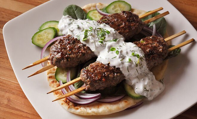 Spiced Ground Lamb Kofta Kabobs Recipe | D'Artagnan