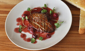 seared-foie-gras-with-cranberry-port-sauce