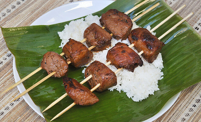 Grilled Pork Adobo Skewers Recipe | D'Artagnan