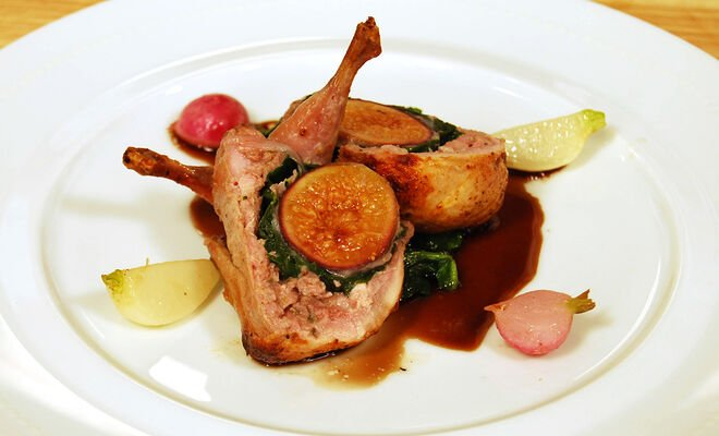 Daniel Boulud's Roasted Quail Stuffed with Fig & Proscuitto Recipe | D'Artagnan