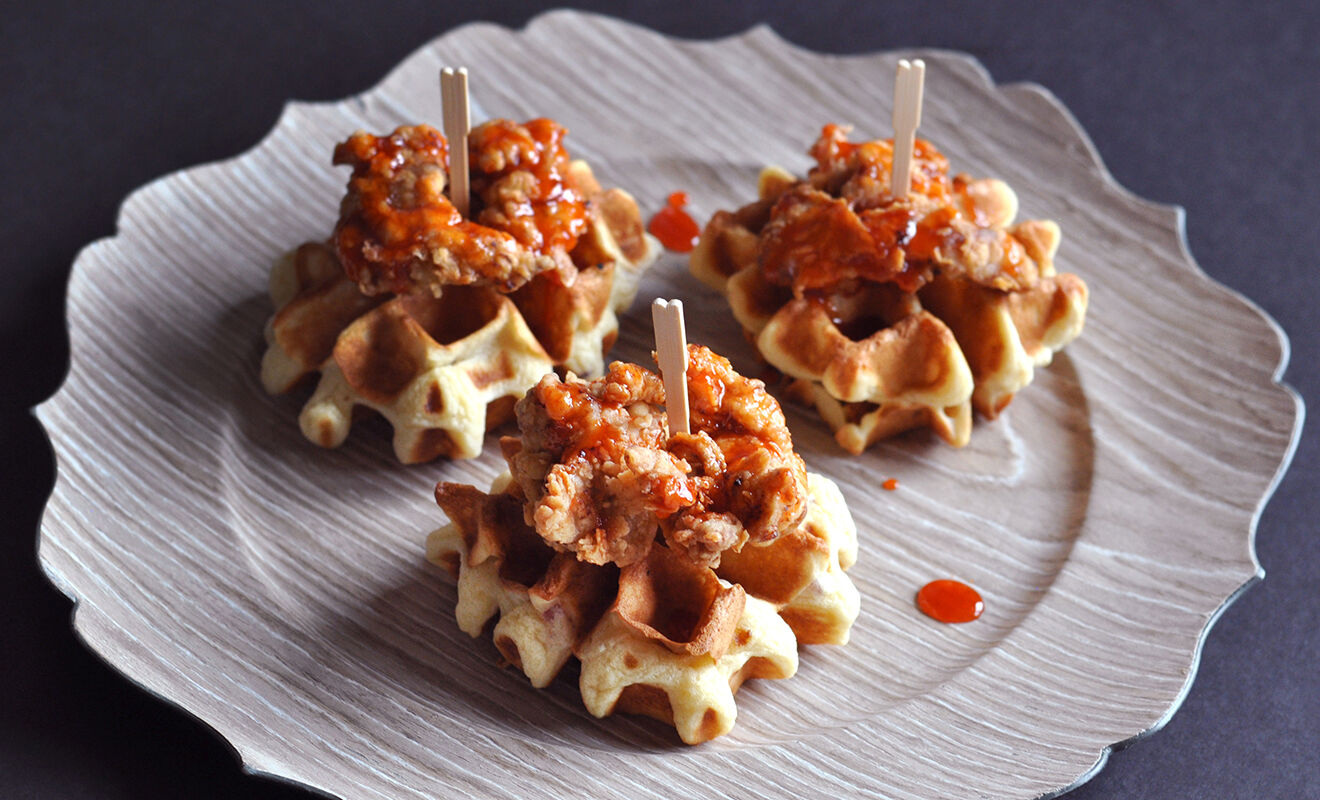 mini-fried-chicken-and-waffles-appetizer-recipe