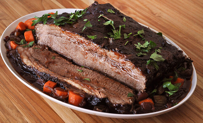 Red Wine Braised Brisket Recipe | D'Artagnan