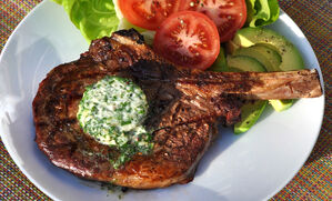 grilled-rib-eye-steak-with-garlic-herb-butter-recipe