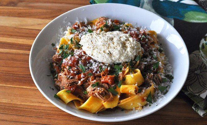Crock Pot Veal Ragu with Fresh Ricotta Recipe | D'Artagnan