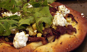 duck-corn-and-goat-cheese-flatbread-pizza-recipe