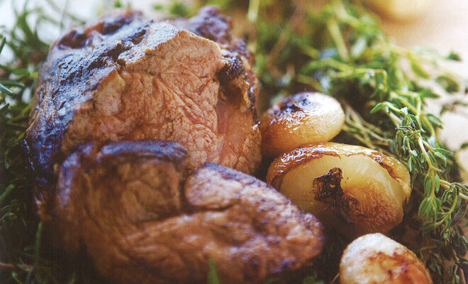 Alexander Bernard's Morel Mushroom Crusted Veal Filet Tenderloin Recipe | D'Artagnan