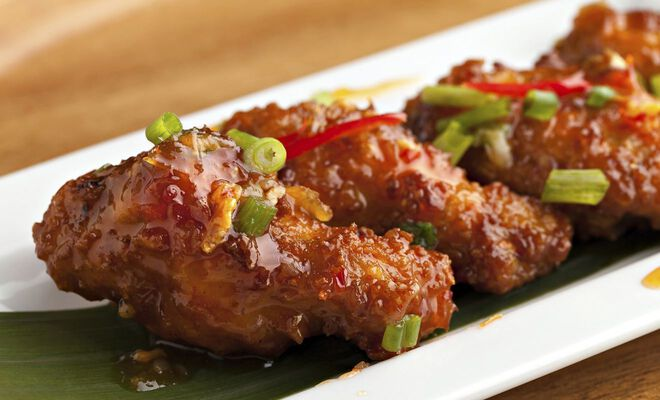Easy recipe for spicy sweet Asian-style fried chicken wings. D'Artagnan