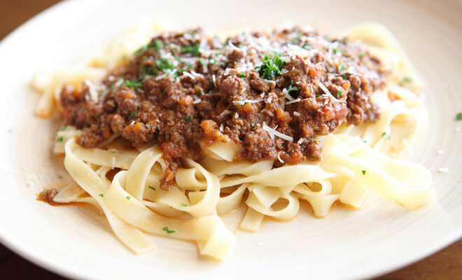 Bison Bolognese Sauce with Pasta Recipe | D'Artagnan