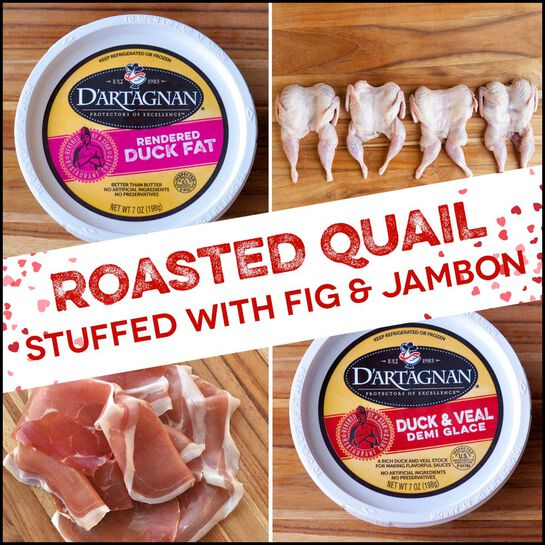 Inspiration Bundle:  Roasted Quail Stuffed with Fig and Jambon de Bayonne