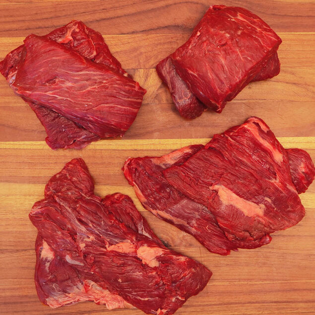 Grass-fed Beef Portioned Bavette Steaks (Sirloin Flap)