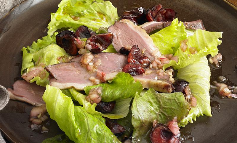 Alison Attenborough Smoked Duck & Cherry Salad Recipe | D'Artagnan