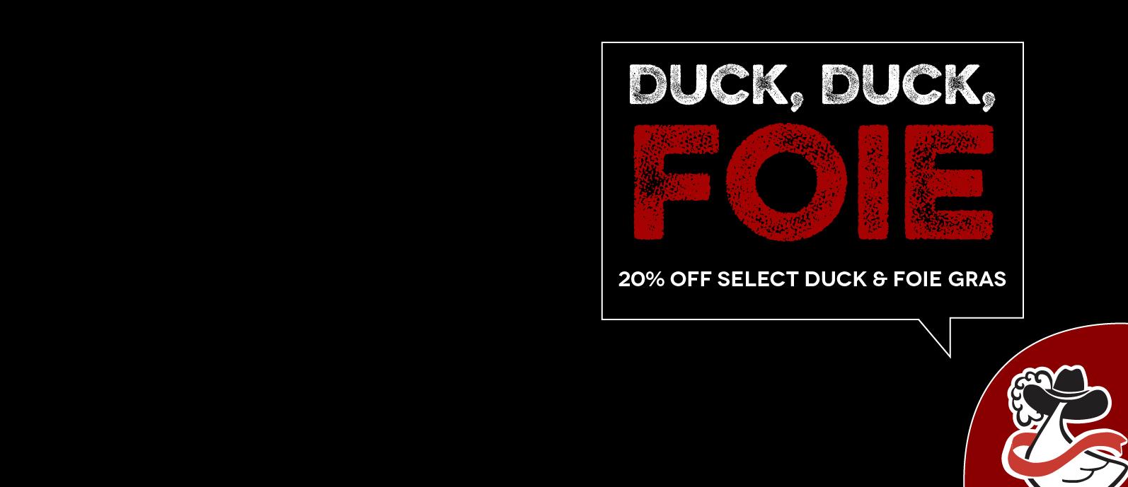 Duck, Duck, Foie Sale