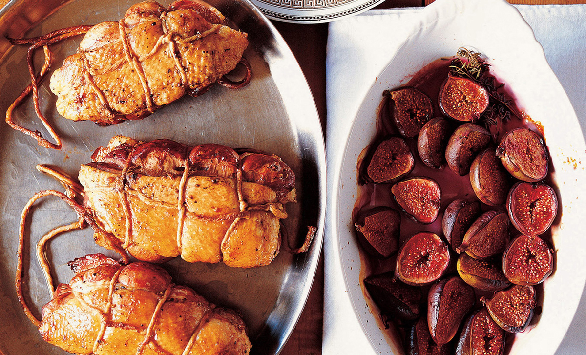 David Tanis' Double Duck Breasts with Baked Figs Recipe | D'Artagnan