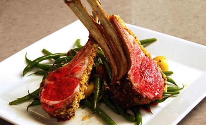 Ariane Duarte Rack of Lamb with Warm Green Bean Potato Salad Recipe | D'Artagnan