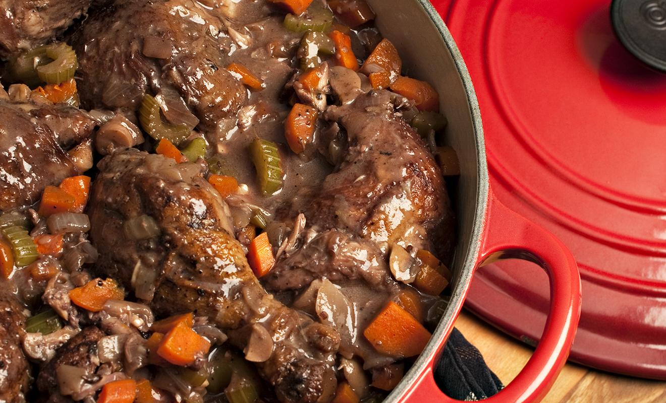 Recipe - Eric Ripert's Coq Au Vin - Chicken - Dartagnan.com