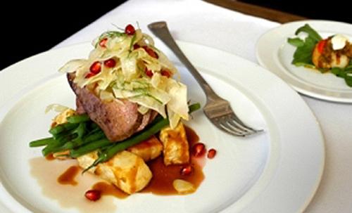 Brad Farmerie's Roast Cervena Venison with Celeriac, Fennel & Truffle Salad Recipe | D'Artagnan