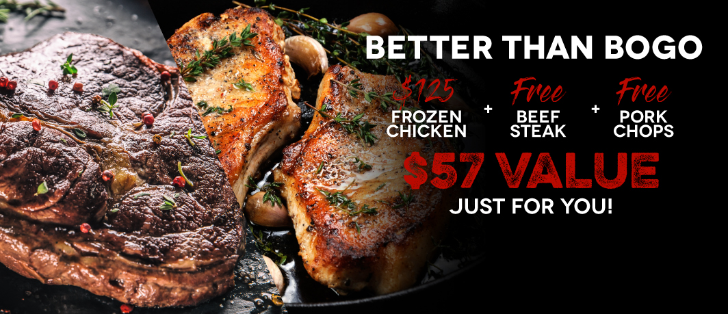 Free Gifts with Purchase of $125+ Frozen Chicken