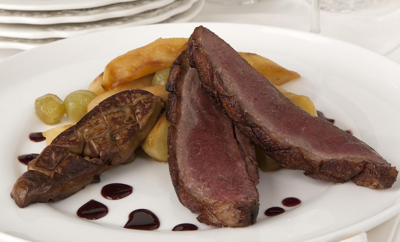 Alain Allegretti's Duck Breast with Sautéed Foie Gras & Port Reduction Recipe | D'Artagnan