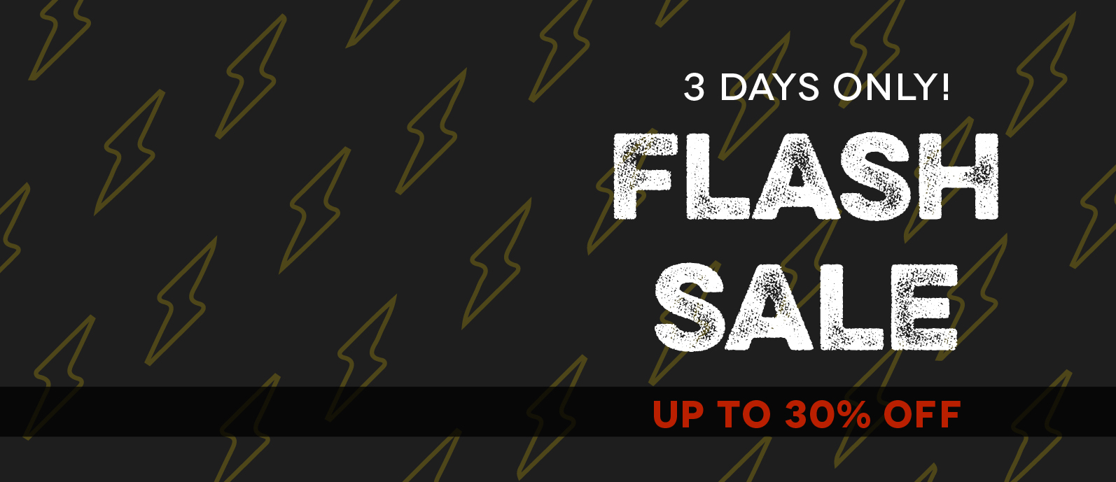 Flash Sale - up to 30% OFF
