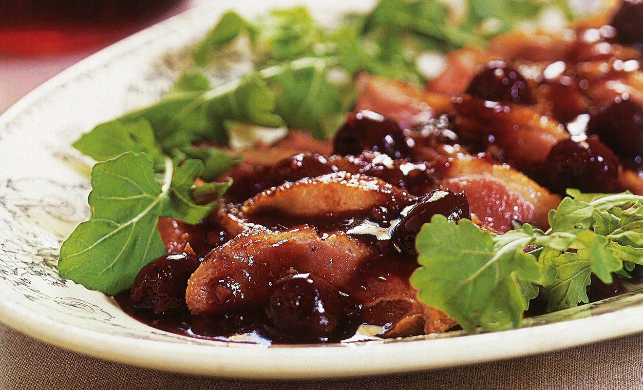 Ann Willan's Duck Breasts with Cherries Recipe | D'Artagnan