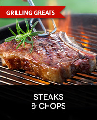 Buy Steaks, Chops, Burgers for the Grill