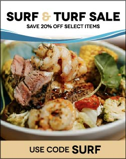 20% Off Surf and Turf